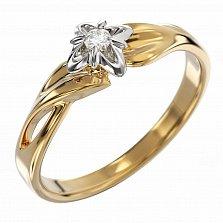 Золотое кольцо Isabella с бриллиантом