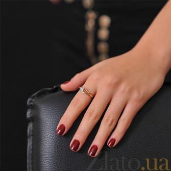 Золотое кольцо с бриллиантом Страстное желание EDM--КД7444
