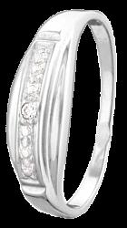Серебряное кольцо с фианитом Шейла