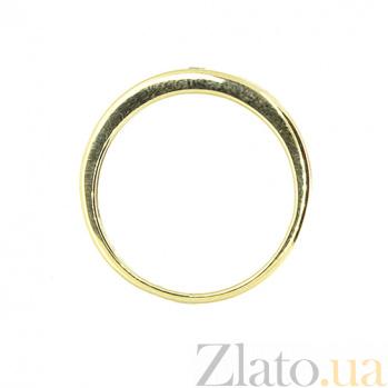 Золотое кольцо в жёлтом цвете с бриллиантом Селена 000021391