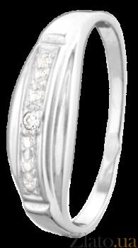 Серебряное кольцо с фианитом Шейла 000025769
