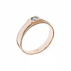 Кольцо в красном золоте Кали с бриллиантом