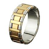 Золотое обручальное кольцо Королевский дуэт