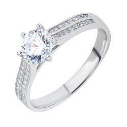Серебряное кольцо с фианитами 000116486