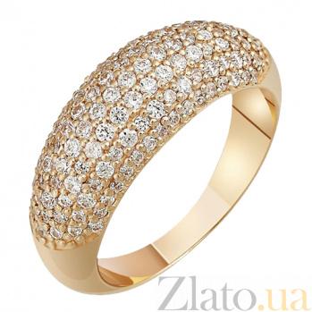Золотое кольцо с фианитами Барлетта 000022914