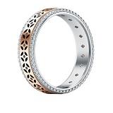 Обручальное кольцо Калейдоскоп Любви: Карусель фантазий из белого и розового золота с бриллиантами