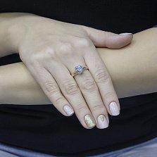 Кольцо из красного золота Нэля с голубым топазом