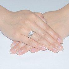Серебряное кольцо с фианитами Глория