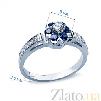 Кольцо с сапфирами и бриллиантами Fannie AQA--к006бS