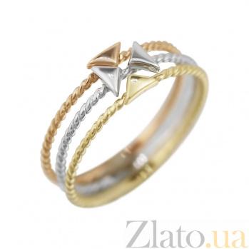 Тройное кольцо из комбинированного золота Стрелки 000081322