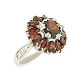 Серебряное кольцо с гранатами Шанталь