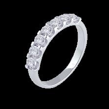 Кольцо из белого золота Небесный взгляд с дорожкой из 7 бриллиантов