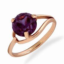Золотое кольцо Микадо в красном цвете с александритом