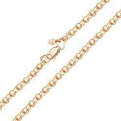 Браслет из красного золота в плетении бисмарк 000126289