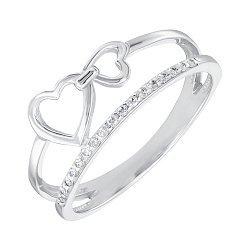 Серебряное кольцо с фианитами 000148361