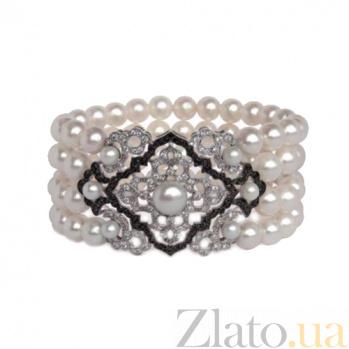 Золотой браслет с жемчугом и бриллиантами Luxury ZMX--BCDDbP-00515w