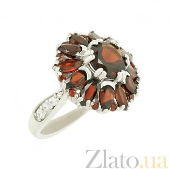 Серебряное кольцо с гранатами Шанталь 3К846-0191