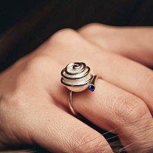 Эксклюзивное кольцо Морской вихрь с жемчугом и сапфиром