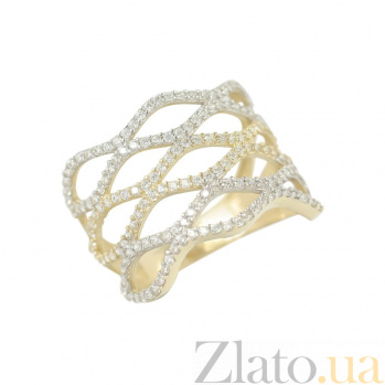 Золотое кольцо с фианитами Виолетта 2К765-0055