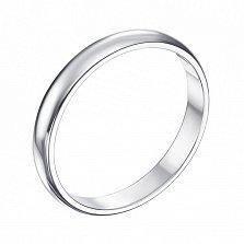 Серебряное обручальное кольцо Счастливый союз