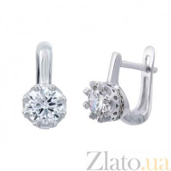 Серьги серебряные Соло AQA-XJR-0058-E