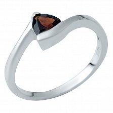 Серебряное кольцо Варвара с гранатом