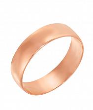 Обручальное кольцо в красном золоте Любовь и верность