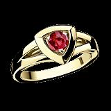 Рубиновое кольцо в лимонном золоте Dream & Love