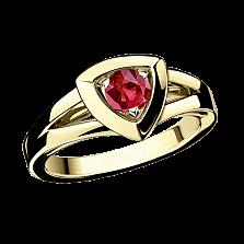 Рубиновое кольцо в лимонном золоте Dream n Love
