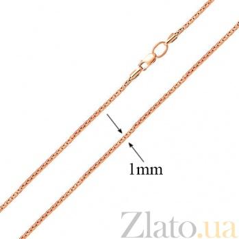 Золотая цепочка из красного золота Меренге SUF--303402кр