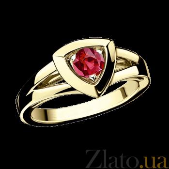 Рубиновое кольцо в лимонном золоте Dream & Love R-BDL-E-rub