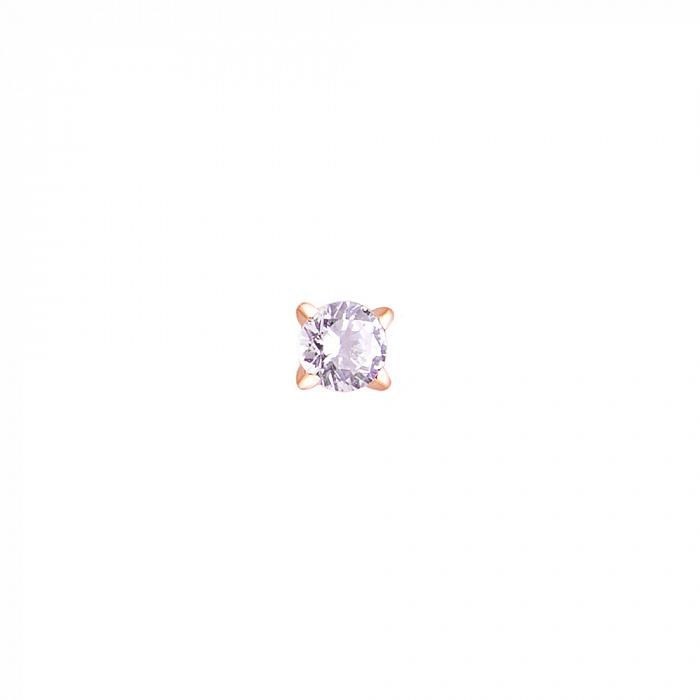 Золотая пуссета Элис с бриллиантом 000017619