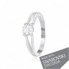 Серебряное кольцо Глэдис с цирконием SWAROVSKI ZIRCONIA