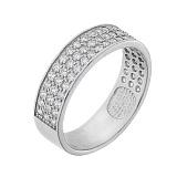 Серебряное кольцо с фианитами Гармония