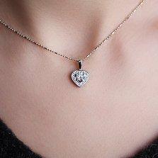 Золотой подвес с бриллиантами Сияние любви
