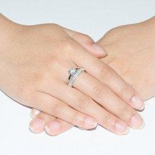 Кольцо из белого золота с цирконием Идиллия