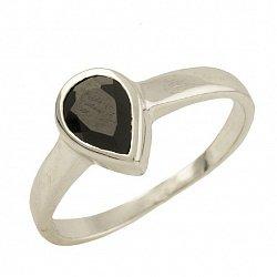 Серебряное кольцо Клодина с сапфиром