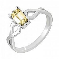Кольцо в белом золоте с бриллиантом Fensi 000079334