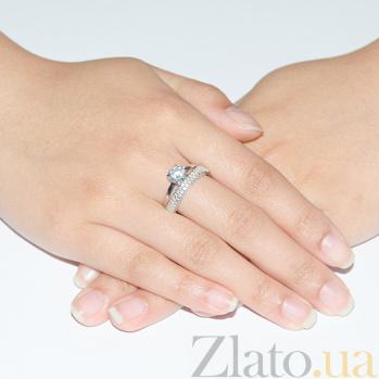 Кольцо из белого золота с цирконием Идиллия SUF--140416б