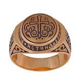 Золотое кольцо-печатка Истинная вера