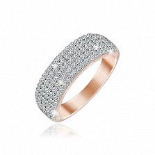 Серебряное кольцо Фиона с позолотой и фианитами