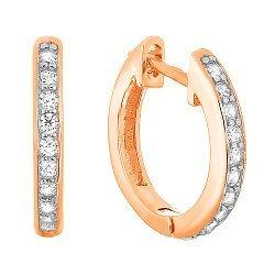 Позолоченные серебряные серьги с цирконием 000029016