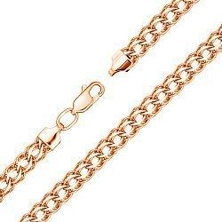 Золотой браслет в плетении королевский бисмарк, 4мм 000101552