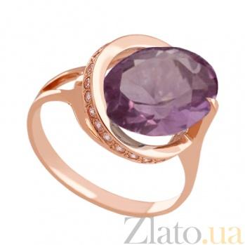Золотое кольцо с александритом и фианитами Илэрия VLN--112-1297-9