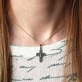 Серебряный черненый крест Стойкость с золотой накладкой