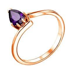 Кольцо из красного золота с аметистом 000137442