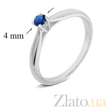 Серебряное кольцо с сапфиром Эир 1842/9р сапф