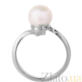 Кольцо из белого золота с жемчугом Анелия 3522230 бел