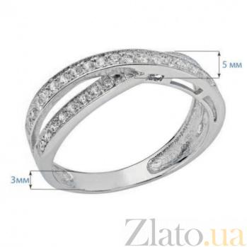 Кольцо из серебра с дорожкой AQA--LR006