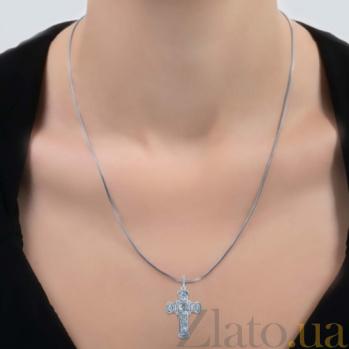 Серебряный крестик с фианитами Вера AQA--74420б